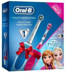 Oral-B Poklon - električna četkica za zube Vitality + Kids Frozen Električna četkica za zube