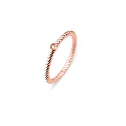 Paul Hewitt Rope North Star Roze Zlatni Prsten Od Hirurškog Čelika 52