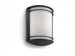 Philips 17320/30/P3 antelope zidna spoljašnja svetiljka 1x6W CRNA