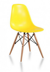 Plastična trpezarijska stolica CHARLIE MAT - Žuta