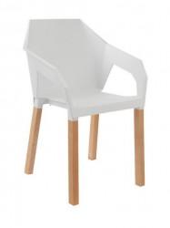 Plastična trpezarijska stolica ORIGAMI - Bela
