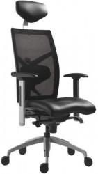 Radna stolica - 6420 Exast (mreža + eko koža crna)