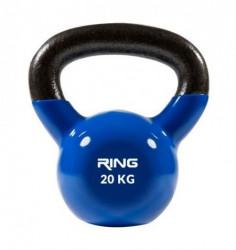 Ring kettlebell 20kg metal vinyl RX DB2174-20 blue