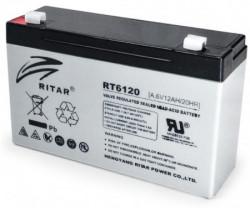 Ritar punjiva olovna baterija VRLA baterija 6V 12Ah za UPS 151x50x94mm BAT-RT6120
