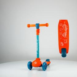 Scooter - trotinet za decu Model 651 sa svetlećim točkovima - Narandžasti