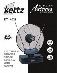 Sobna TV/FM antena Kettz DT-K028 + pojačivač ( 00K028 )
