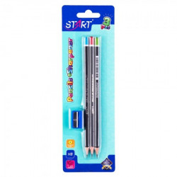 Start olovke grafitne space 3kom i zarezaČ na blisteru start ( STR6110 )