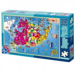 Super Puzzle 240PCS MAPS 03 ( 07/50663-03 )