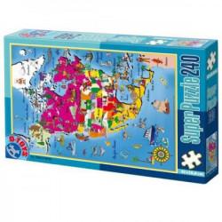 Super Puzzle 240PCS MAPS 03 ( 07/50663-03 )
