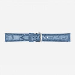 Svetlo Plavi Poletto Faux-Leather Alligator Grained Kožni Kaiš Za Sat