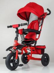 Tricikl Guralica Happybike Big model 419 sa mekanim rotirajućim sedištem - Crvena