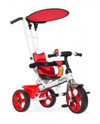 Tricikl Guralica Playtime AM 409 + mekano sedište Crveni