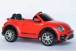 VW Buba Licencirani Auto sa kožnim sedištem i ojačanim PVC točkovima - Crveni ( VW Buba-3 )