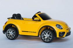 VW Buba Licencirani Auto sa kožnim sedištem i ojačanim PVC točkovima - Žuta ( VW Buba-2 )
