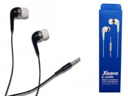 Xwave slušalice za mobilni sa mikrofonom/stereo/3.5mm jack/kabl 1.3m/silikon/ kontrola glasnoće/box/in-ear ( E-420M black )