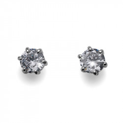 Ženske Oliver Weber Brilli Rose Gold Crystal mindjuše sa swarovski belim kristalom