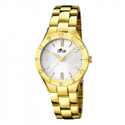 Ženski Lotus Trendy Zlatni Elegantni ručni sat sa belim brojčanikom