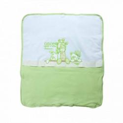1406 Plišani prekrivač 3 drugara zeleni ( 096515 )