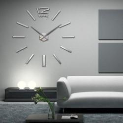 3D Zidni Sat samolepljivi - Srebrni ( T4310S )