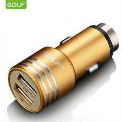 Auto punjač metalni 2USB 2.1A GOLF GF-C06G ( 00G83 )
