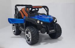BAGI BJ-5900 - Dečiji Auto na akumulator sa kožnim sedištem i mekim gumama - funkcija ljuljanja - Plavi