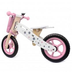 Balance Bike 755 Drveni Bicikl bez pedala za decu - Roze