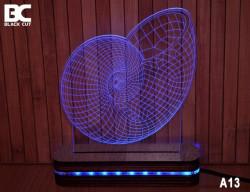 Black Cut 3D Lampa jednobojna - Puž ( A13 )