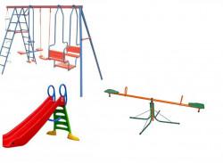 Dečiji komplet za dvorište ( Play 3C ) Ljuljaška + Tobogan + Klackalica