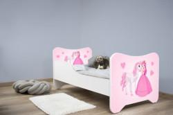 Dečiji krevet 140x70 cm happy kitty PRINCESS AND HORSE ( 7539 )