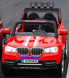 Džip BMW 304 Dvosed na akumulator sa daljinskim upravljanjem - Crveni