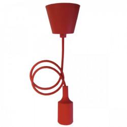 Elit+ silikonska luster visilica sa grlom e27 crvena ( EL9725 )
