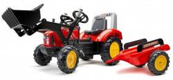Falk Supercharger Traktor na pedale sa prikolicom i kašikom 2020M - Crveni