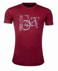 Force majica flow kratki rukav, crvena l. ( 90786-L )