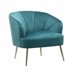 Fotelja školjka - velur štof - Tirkiz
