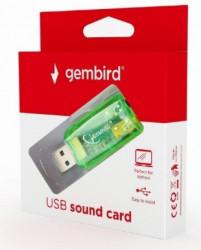 Gembird USB 5.1 3D zucna karta, zamenjuje audio kontroler u racunaru FO SC-USB-01