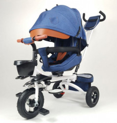 Happybike 420 Jeans Tricikl sa rotirajućim sedištem - Plavi