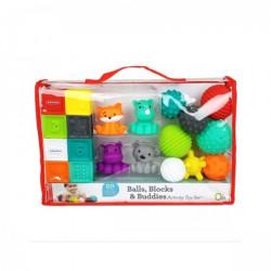 Infantino set gumenih drugara, loptica i kockica ( 22115172 )