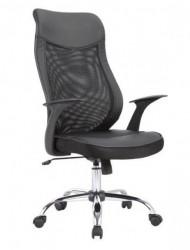 Kancelarijska fotelja 2302 od eko kože - Crna
