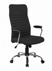 Kancelarijska fotelja 8243H od eko kože - Crna