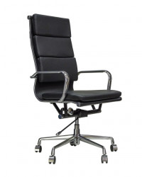 Kancelarijska stolica BOB HB L od prave kože - Crna