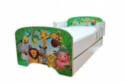 Krevet za decu Green Jungle sa dve fioke 160*80 cm - model 803