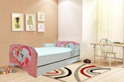 Krevet za decu Pink Princess sa dve fioke 160*80 cm- model 803