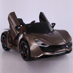 La Ferrari Auto na akumulator sa kožnim sedištem - Sivi