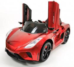 Lamborghini Dečiji auto na akumulator model 244-1 sa kožnim sedištem - Metalik crveni