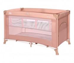 Lorelli prenosivi krevet torino 2 nivoa - misty rose ( 10080462122 )