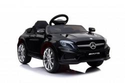 Mercedes GLA 45 AMG Licencirani auto za decu na akumulator sa kožnim sedištem i mekim gumama - Crni