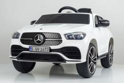 Mercedes GLE450 model 264 Licencirani Auto za decu sa kožnim sedištem i mekim gumama - Beli