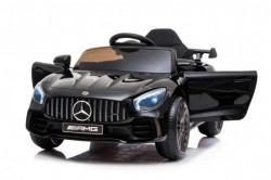 Mercedes GT AMG Licencirani sa kožnim sedištem i mekim gumama za decu model 267 crni