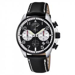 Muški Lotus Chrono Crno Beli Sportski ručni sat sa štopericom
