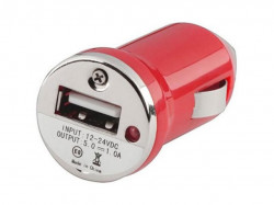 N/A Auto punjač USB 1A E-11 crveni ( 00-003 )